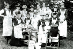 photo of butter making class 1910s