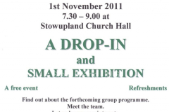 poster advertising SLHG first public meeting